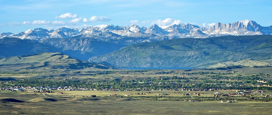 Surrounded by three mountain ranges.
